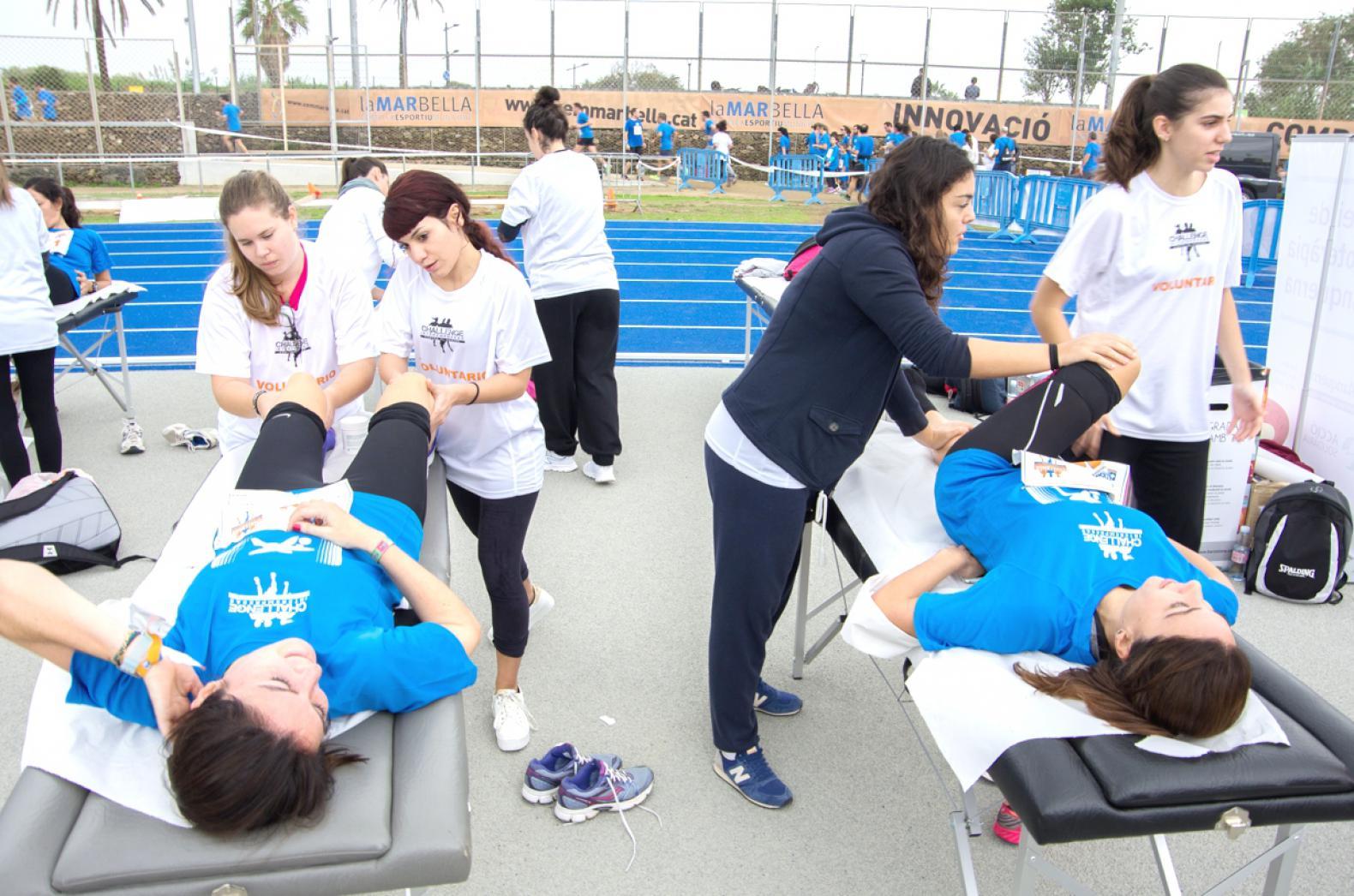 Merecidos masajes después del esfuerzo