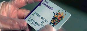 Tarjeta de Ayuda Solidaria para la compra semanal de una familia en riesgo