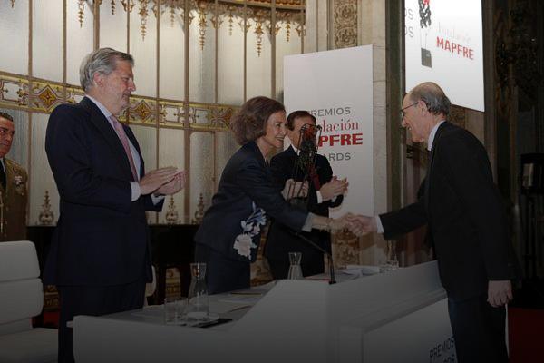 """Premio de Fundación Mapfre: """"El apoyo del sector privado es clave para mantener nuestra actividad"""""""