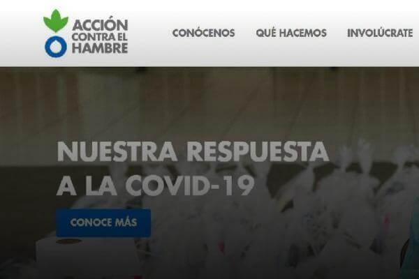 WEB DE ACCIÓN CONTRA EL HAMBRE PERÚ
