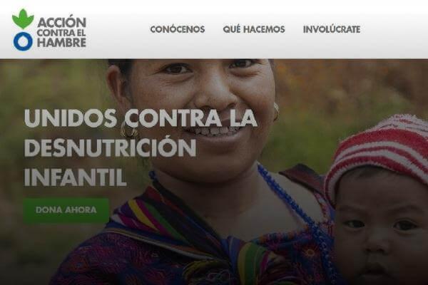 WEB DE ACCIÓN CONTRA EL HAMBRE GUATEMALA