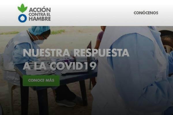 WEB DE ACCIÓN CONTRA EL HAMBRE COLOMBIA