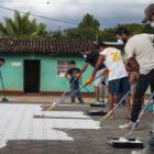 Boa Mistura lleva su arte urbano a Nicaragua para promover medios de vida alternativos a la sequía