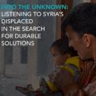 En lo desconocido: Escuchemos a la población desplazada siria en búsqueda de soluciones duraderas
