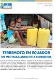 TERREMOTO EN ECUADOR. UN MES TRABAJANDO EN LA EMERGENCIA