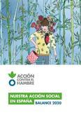 NUESTRA ACCIÓN SOCIAL EN ESPAÑA - BALANCE 2020