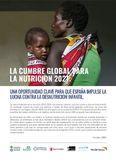 La cumbre global para la nutrición 2021: oportunidad clave para que España impulse la lucha contra la desnutrición infantil.