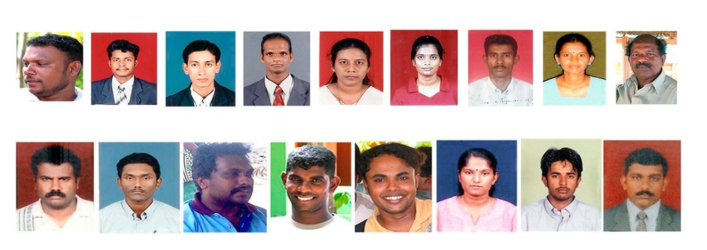 Los 17 trabajadores humanitarios de Acción contra el Hambre que fueron asesinados el 4 de agosto de 2006.