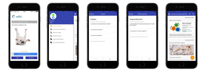 Una nueva aplicación móvil para ayudar a encontrar empleo o emprender