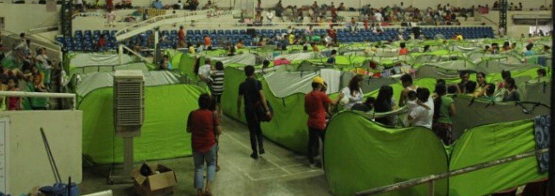 Evacuados en Batangas, Filipinas