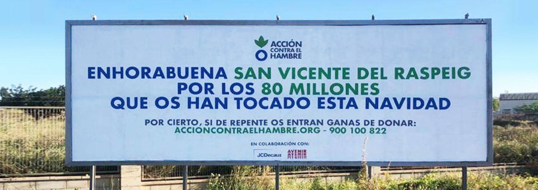Despliegue contra el reloj en una localidad alicantina premiada con el gordo… por si se animan a donar