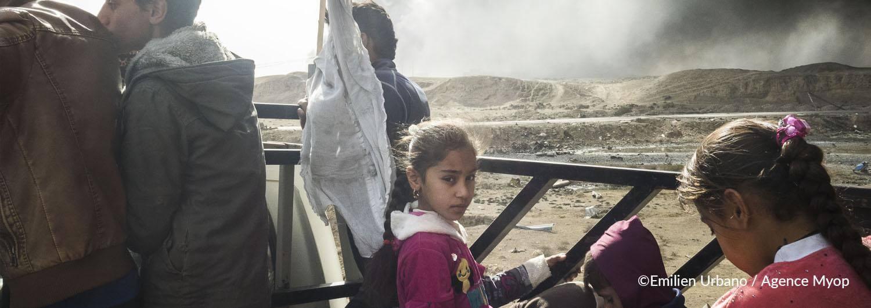 Mosul: brindamos apoyo psicológico a las familias desplazadas