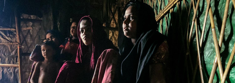 Anwara es Rohingya y tuvo que escapar de Myanmar a Bangladesh junto a su familia hace un año.