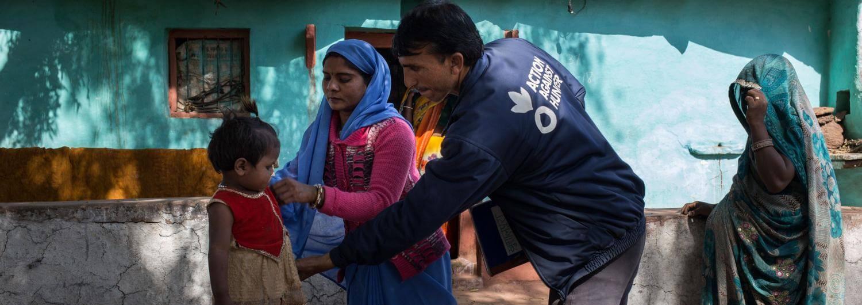 Niños, India, desnutrición