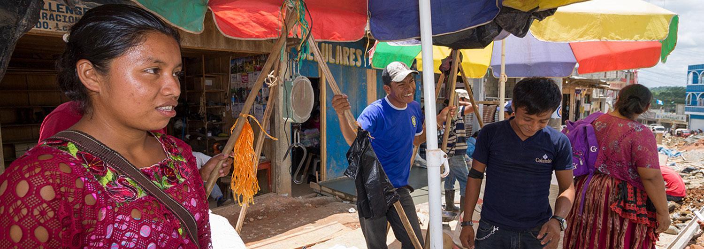 Participante del proyecto de respuesta a la crisis alimentaria en Guatemala